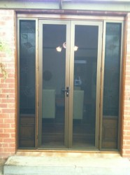 Double/French Crimsafe Doors with Sidelites